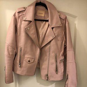 Blank nyc vegan leather moto jacket size m